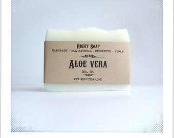 Aloe Vera Soap - Acne Soap, Anti Aging Soap, Facial Soap, Unscented Soap, Natural Soap, Homemade Soap, Vegan soap, Oily skin, Artisan Soap