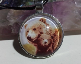 Mother and Baby Bear Necklace + Free Shipping Worldwide, bear jewelry, bear necklace, mummy and baby animal jewelry, mummy and baby love