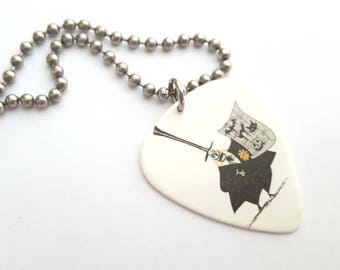 Nightmare Before Christmas Guitar Pick Necklace with Stainless Steel Ball Chain - animation