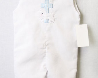 Baby Boy Baptism Outfit - Baby Boy Clothes - Baby Boy Christening Romper - Baby Christening Outfit - Baby Boy Baptism Suit 292658L