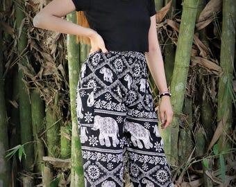 Boho Harem Pants/ Hippie Pants Elephant pants one size fits Black