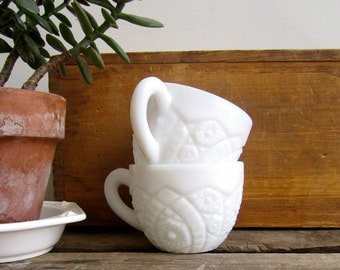 Milk Glass Punch Cups