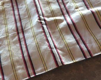 Ten Vintage Striped Linen Placemats