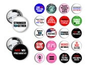 Anti Trump Pins Womens Rights Pins Climate Change Pins Assorted Lapel Pins Hat Pins Not My President 1.25 inch Buttons Pins Magnets