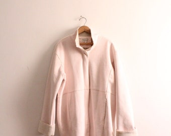 Pink Shearling 90s Winter Jacket