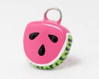 Cute Watermelon Charm - Polymer Clay Charm - Watermelon Jewelry - Fruit Charm - Fruit Jewelry - Food Charm - Cell Phone Charm