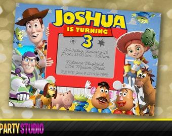Toy Story invitation, Toy Story invite, Toy Story birthday, Woody, Buzz, digital file, personalized invitation