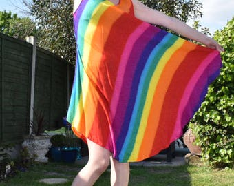 Calling ALL Rainbow Queens, Festival Tent Dress, Size fits 8-14