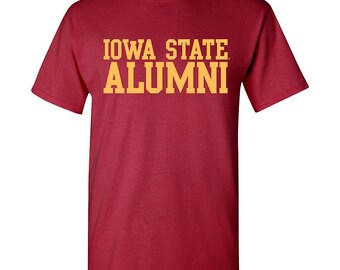 Iowa State Cyclones Block Alumni T shirt - Cardinal Red