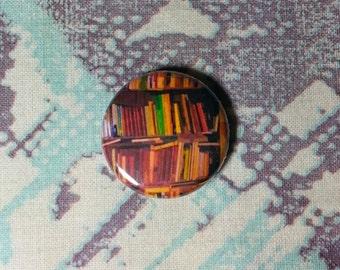 Abstract Bookshelf Art Pinback Button or Magnet