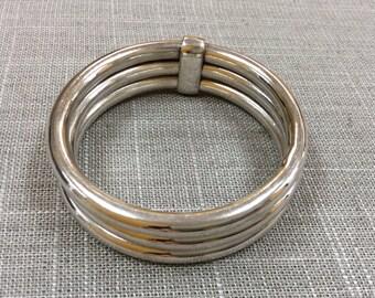 Vintage 925 Sterling Silver Bangle Bracelet!!