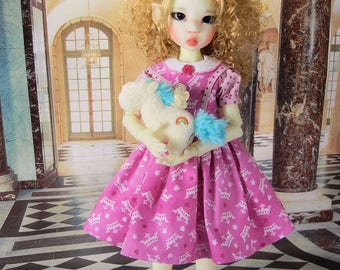 Little Miss Princess outfit for MSD Kaye Wiggs girls such as Abby, Lenny, Layla, Nyssa or Miki , fits Talyssa and Mei Mei  too