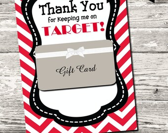 INSTANT DOWNLOAD Thank You for Keeping Me On Target Teacher Appreciation Year End Thank You Card Printable Digital