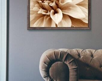 Dahlia Photo Print, Bedroom Decor, Floral Wall Decor Print, Flower Photography, Monochrome Dahlia Picture, Home Decor Wall Art