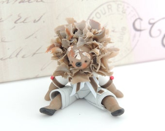 Papa Lion Miniature Figurine Collectible Doll
