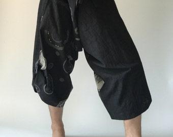 SR0007 Samurai Pants Harem pants have fisherman pants style wrap around waist
