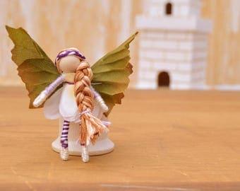 Flower Fairy Doll - flower fairies, miniature fairy doll, miniature fairies, mini fairy doll, mini fairies, waldorf fairy doll