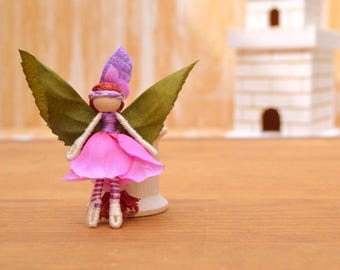 Flower Fairy Doll - flower fairies, miniature fairy doll, miniature fairies, waldorf fairy doll, waldorf fairies, mini fairy doll