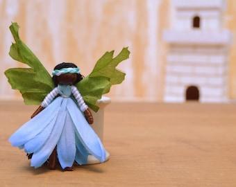 Waldorf Fairy Doll - waldorf fairies, miniature fairy doll, miniature fairies, flower fairy doll, flower fairies,mini fairy doll,black fairy