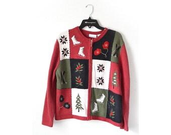 Ugly Christmas Sweater, Vintage Christmas Sweater, tacky Christmas,  Womens Christmas Sweater, Vintage Christmas Sweater, CHristmas Jumper