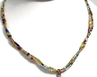 NA Beaded Necklace Multi Color - Narcotics Anonymous 12 Step Recovery