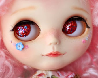 Blythe Eyechips Crimson Spark by NVD (available for Pullip and Icy Size too)
