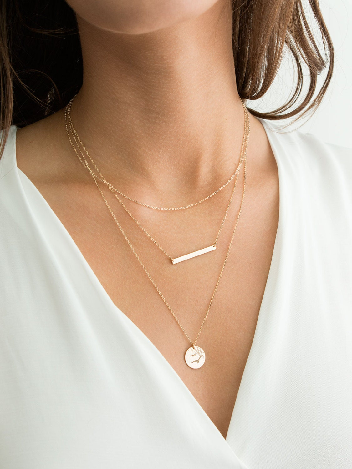 Bar Necklace Amp Simple Dainty Layering Necklaces Gold