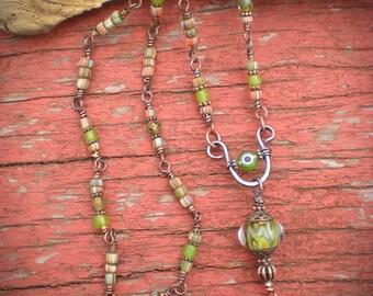 Long Protective Eye Shaman Amulet Necklace