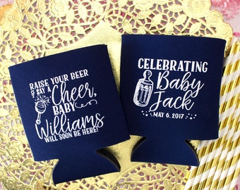 Baby Shower Favors, Baby Shower Party, Can Coolers, Party Favors, Gender Reveal, Couples Shower, Welcome Baby, Boy or Girl, Baby Boy Shower