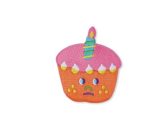 Carrot cupcake Iron on patch