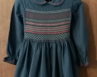 Lovely handmade and hand-smocked dress and knickerbockers