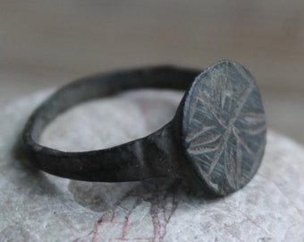 antique ring ... jewelry rusty ring ... from archaeological dig ...  found object ... archaeological finds