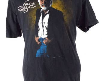 90s Kenny Rogers Vintage Country Concert T Shirt Large | XL