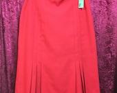 Red Fletcher Jones Skirt...