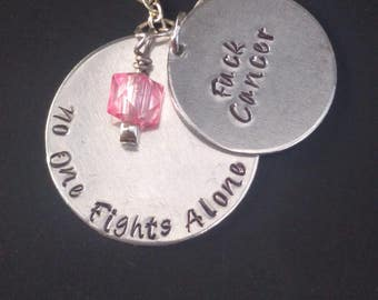 Birthday Gift Cancer - Fuck Cancer - No one Fights Alone - Breast Cancer - Gift for Her - Cancer Survivor - Ovarian Cancer - Cancer Gift