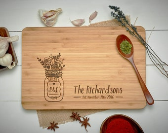 Cutting Board Personalized, Wedding Gifts For Bride, Christmas Gifts for Friends, Cutting Board Handmade, House Warming Gift, Gifts Under 20