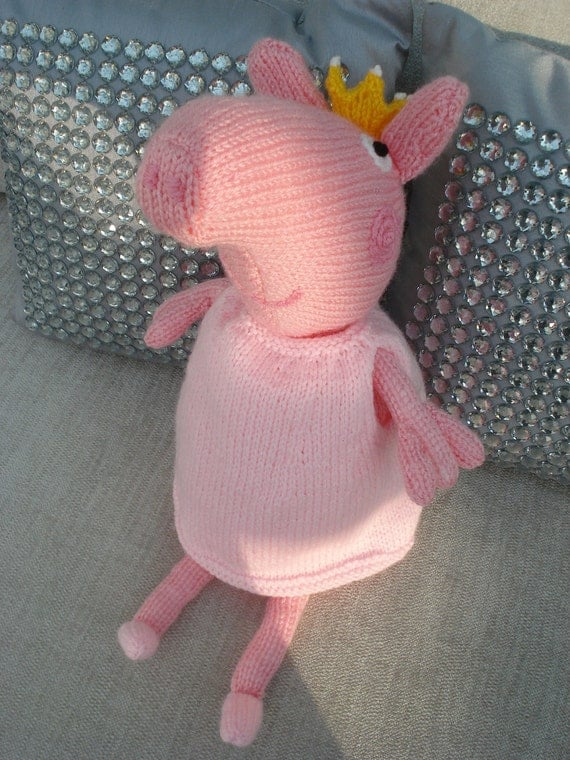 Knitting Patterns Peppa Pig Toys : Peppa Pig Princess Hand Knitted toy