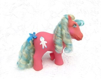 Vintage My Little Pony Candy Cane Pony Molasses