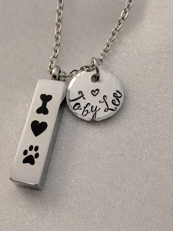 Dog Loss Urn - Pet Loss Memorial - Dog Loss Gift - Pet Urn Jewelry - Pet Loss Necklace - Urn For Pet Ashes -Pet Cremation Urn - Personalized