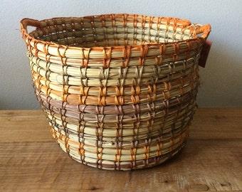 Vintage Aboriginal Oenpelli  Basket with Handles