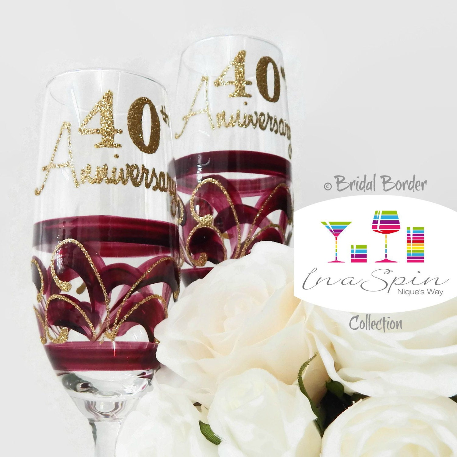 40th anniversary gift ruby anniversary gift by. Black Bedroom Furniture Sets. Home Design Ideas