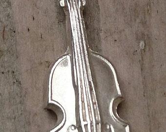 Vintage sterling silver violin charm