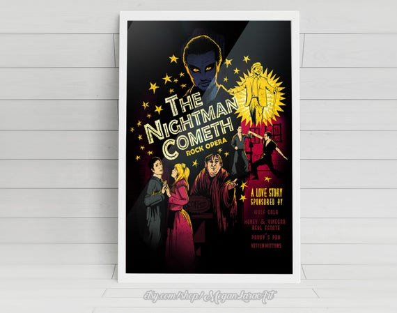 """The Nightman Cometh - """"Its Always Sunny in Philadelphia"""" artwork - signed 11x17 posters"""