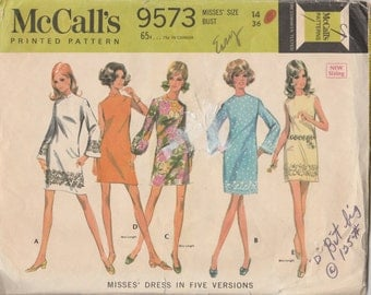 """McCall's 9573  Misses' Dress in Five Versions  Bust 36"""""""