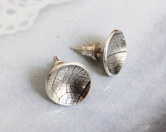 Nature song, leaf studs (silver studs)
