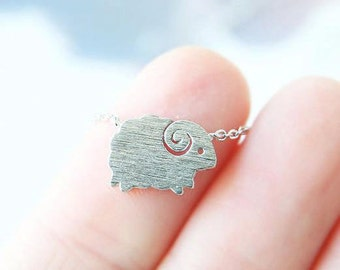 tiny silver sheep necklace, sheep necklace, dainty, everyday necklace, birthday, wedding, bridesmaid gifts, necklaces for women, gift ideas
