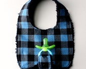 Baby Boy Binky Bib in Blu...