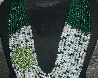 African Bead Necklace | Nigerian Wedding Beads | Traditional Wedding Beads |  Bridal Beads |  10 Layered Jewellery set