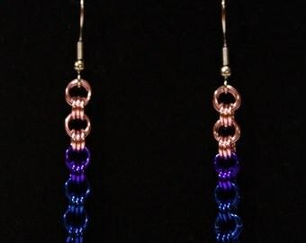Pride Collection - Bisexual Pride Triplet Earrings
