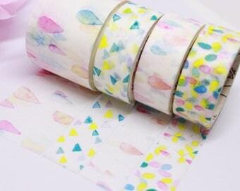 Watercolor Washi Tape, Pastel Washi Tape, Washi Tape Set, Planner Accessories, Happy Planner, Erin Condren, Bullet Journal, Planner Supplies